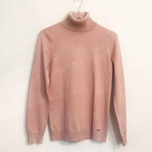 Calvin Klein Millennial Pink Turtleneck Sweater M